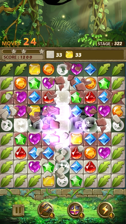 Jewels Jungle : Match 3 Puzzle screenshot-5