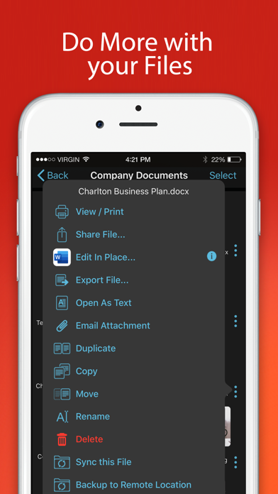 FileBrowser for Business Screenshots