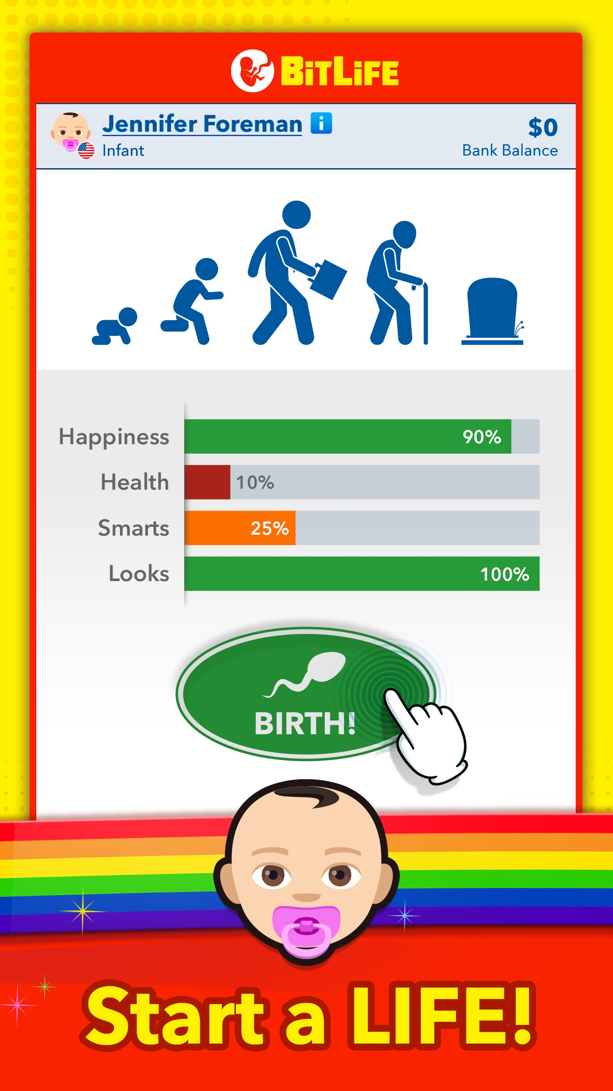 Screenshot do app BitLife - Life Simulator