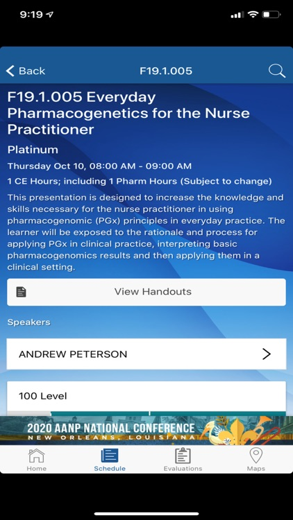 2019 AANP Fall Conference screenshot-3