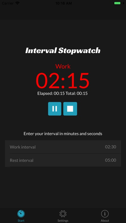 Interval Stopwatch Timer screenshot-1