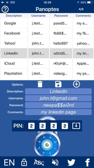 Password Manager - Panoptes Screenshots