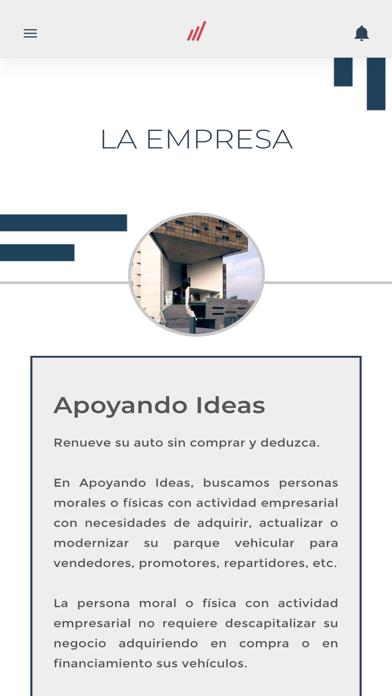 Apoyando Ideas Screenshot