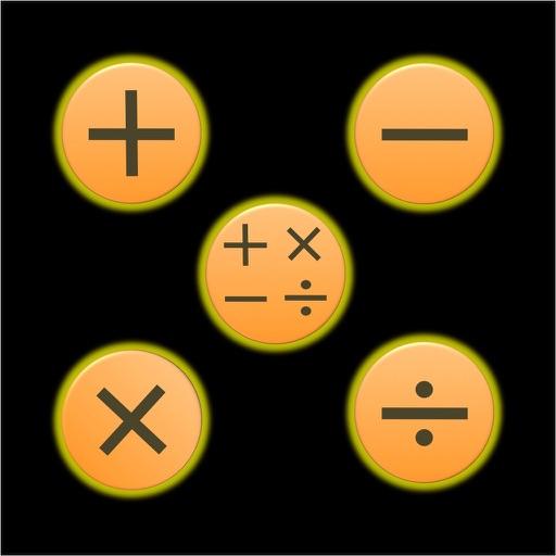 Memory Math: +, -, x, /