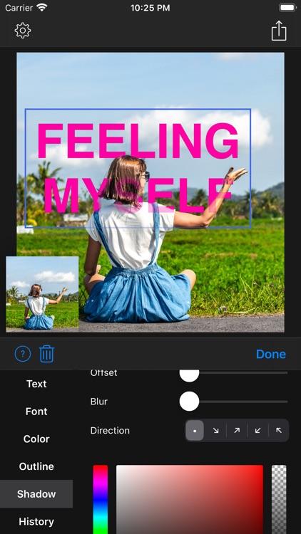 Text Under Image - 3D Text screenshot-8