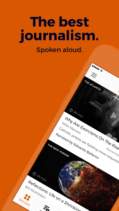 Screenshot for Audm - New Yorker, Atlantic in United States App Store