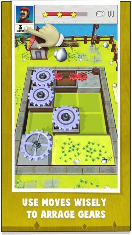 Gears Island : logic puzzle