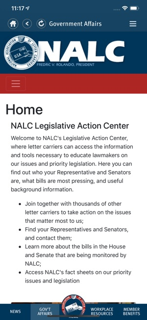 NALC Member App on the App Store