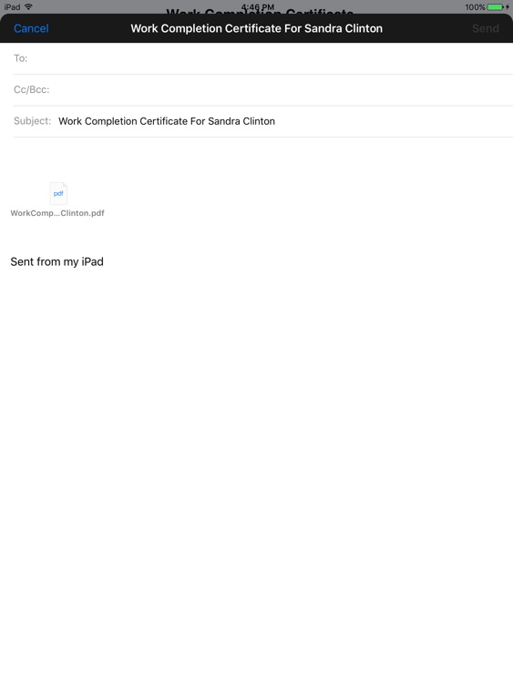 Simple Work Completion Cert screenshot-3
