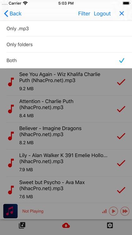 Music Player Offline screenshot-3