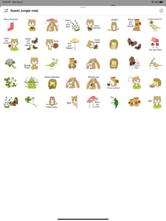 Sweet Jungle-moji screenshot 4