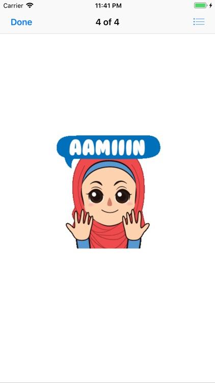Muslim Hijab Girl Greetings screenshot-3