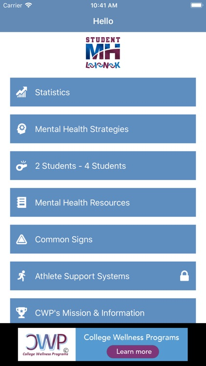 Student Mental Health Link screenshot-2