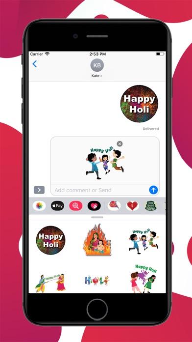 Holi Dhuleti Stickers screenshot 2