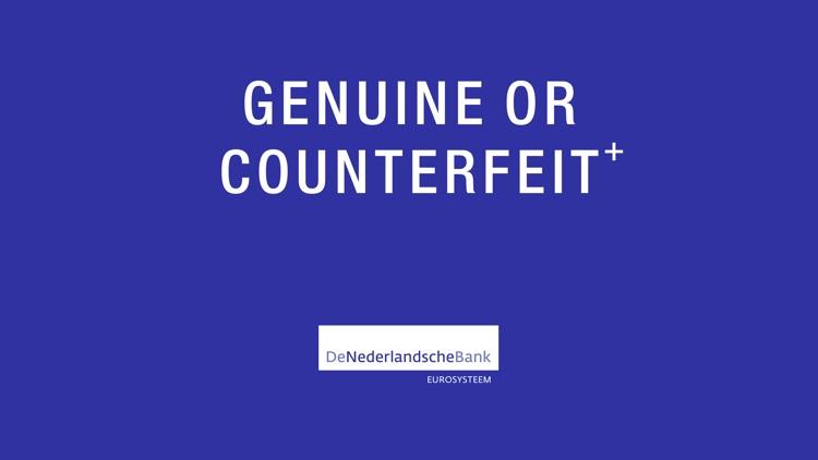 Genuine or Counterfeit⁺