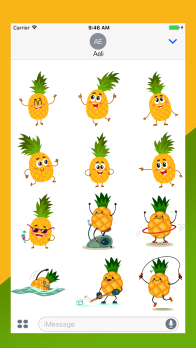 点击获取Hawaii Pineapple Stickers Pack