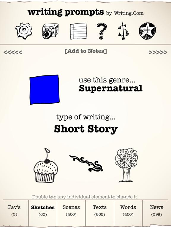 Writing Prompts screenshot