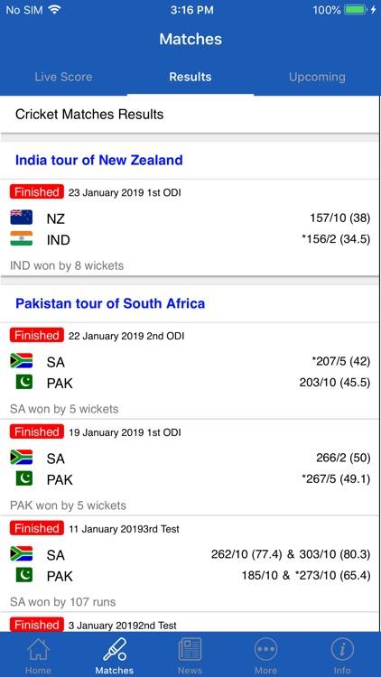 CrickOne - Live Cricket Scores screenshot-3