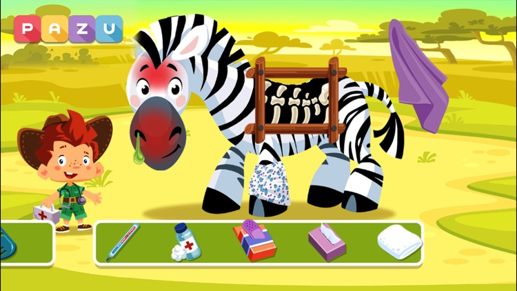 Animal Doctor Safari kids game screenshot-3