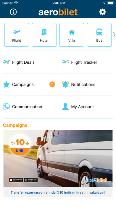 Screenshot for Aerobilet - Flights, Hotels in Azerbaijan App Store
