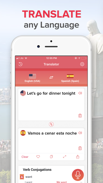 •Translator Screenshot on iOS