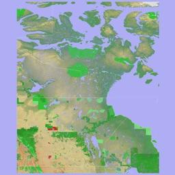 Scenic Map Central Canada