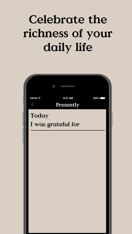 Presently: A Gratitude Journal