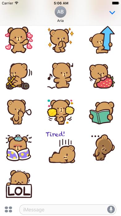 Cool Bear Mocha Daily Emoji screenshot 4