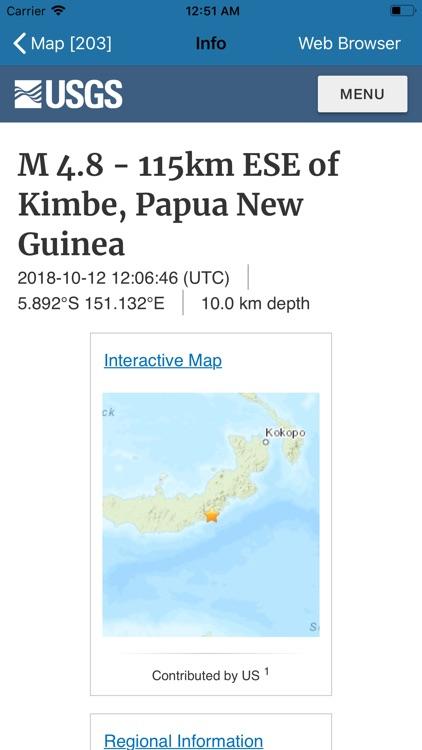 Earthquake + Alert, Map & Info screenshot-4