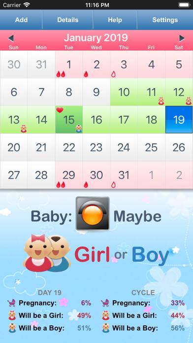 Menstrual Cycle Calendar screenshot two