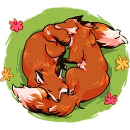 Red Fox FoxMoji Stickers