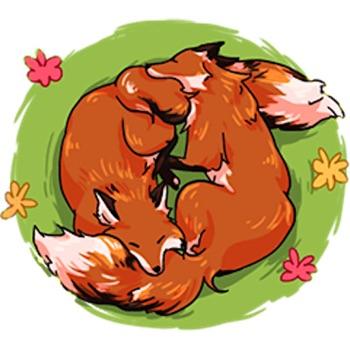 Red Fox FoxMoji Stickers Logo