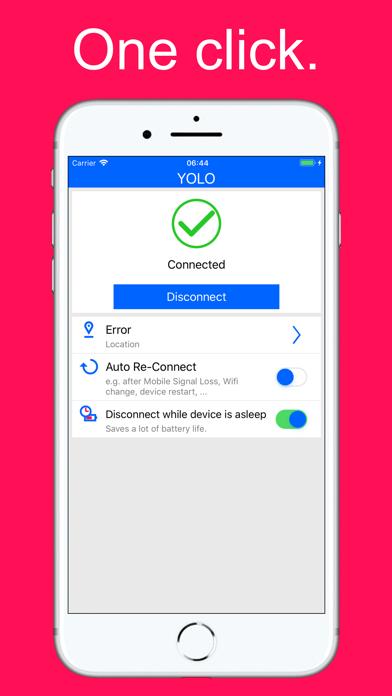 yoloVPN - Best VPN Unlimited screenshot one