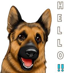 German Shep Dog Stickers Emoji