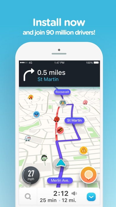 Screenshot for Waze Navigation & Live Traffic in Canada App Store