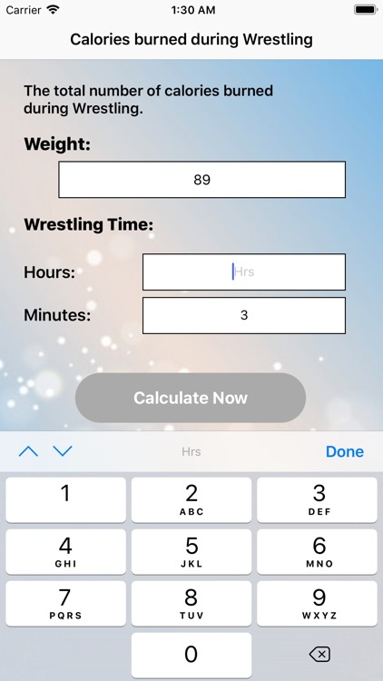 Calories for Wrestling