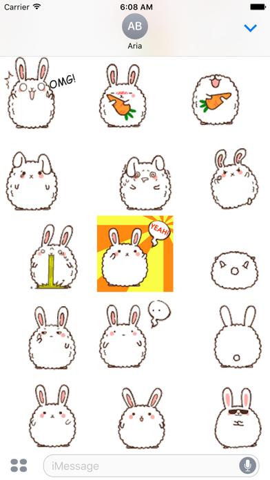 Animated Cute Chubby Bunny screenshot 3