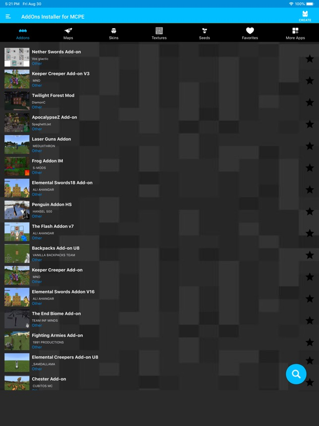 AddOns Installer for MCPE on the App Store