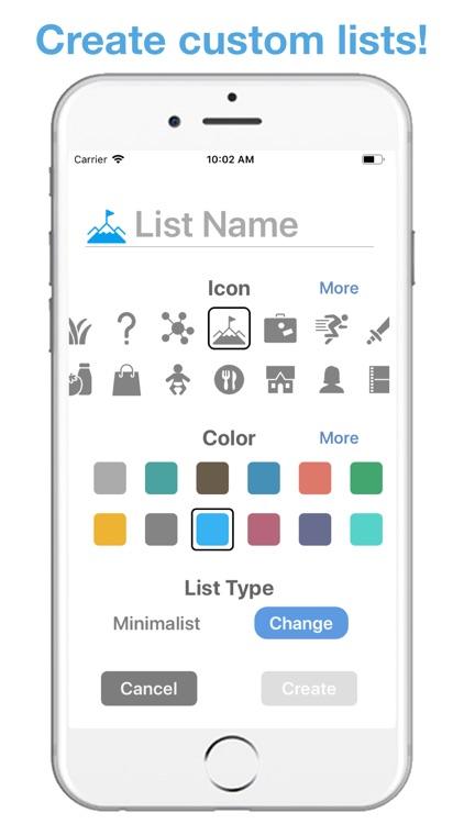 Life Lists: List Organizer screenshot-7