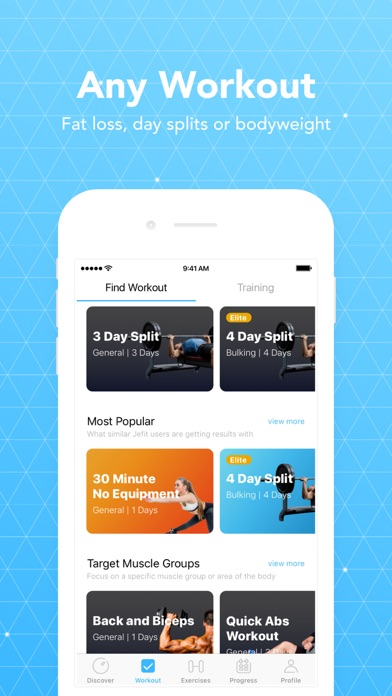 JEFIT Workout - Free personal exercise trainer & Gym Log screenshot