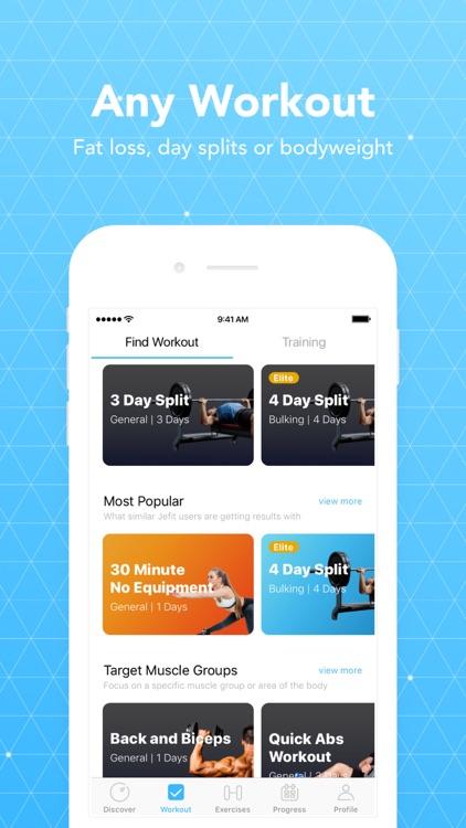 JEFIT Workout Planner Gym Log screenshot-3