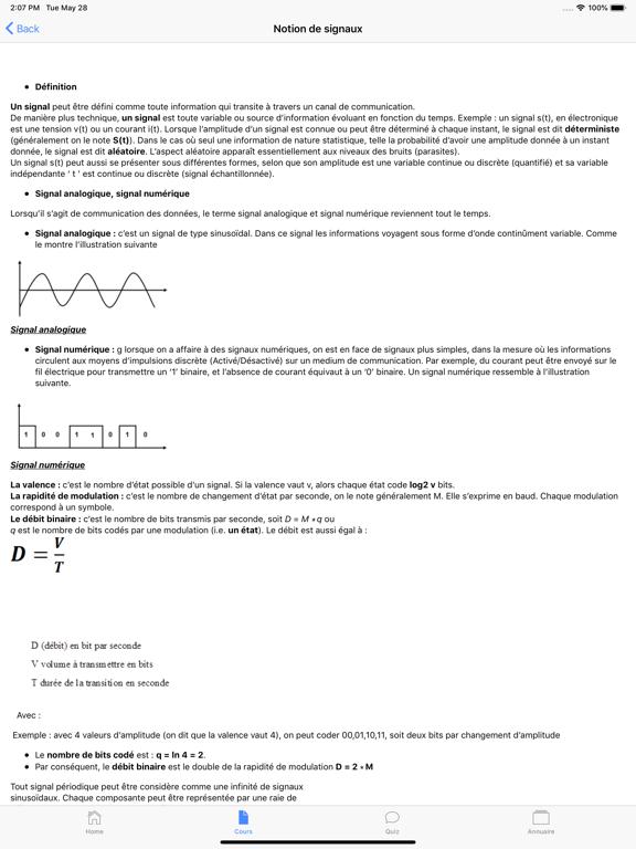 Cours de Réseau Informatique screenshot 9