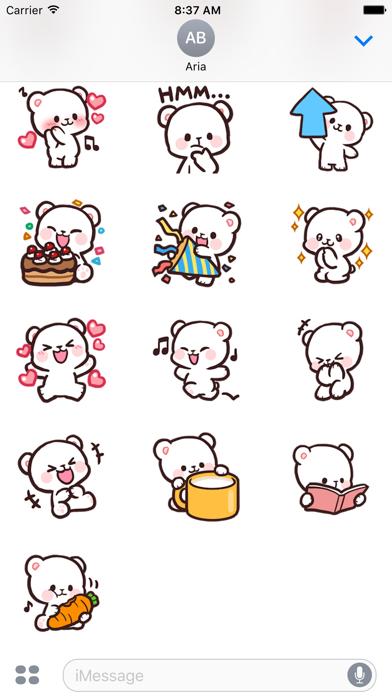 Adorable Bear Milk Daily Emoji screenshot 4