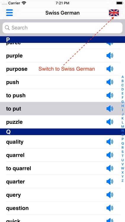 Swiss German Dictionary screenshot-3