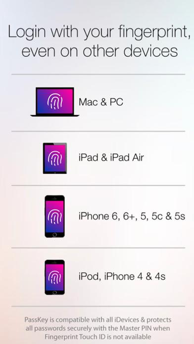 Fingerprint Login:PassKey Lock app image