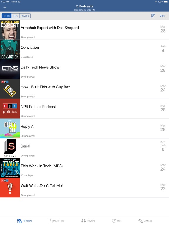 iCatcher! Podcast Player Screenshots