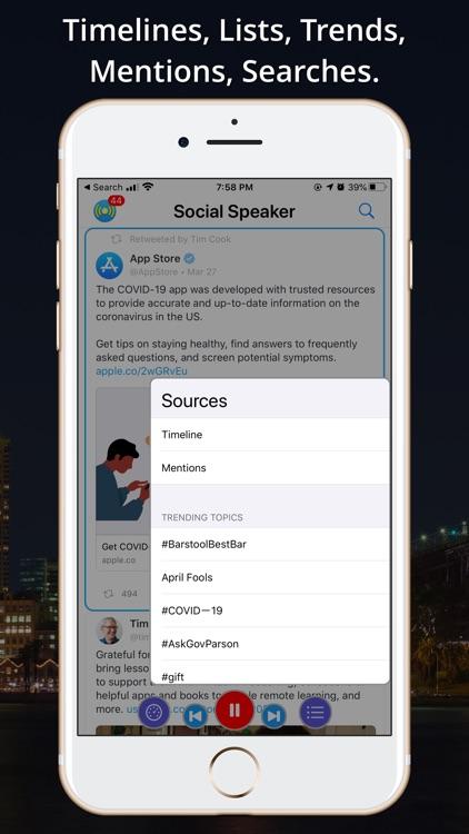 Social Speaker for Twitter screenshot-4