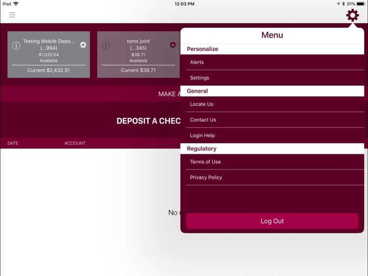 Bank Midwest for iPad screenshot-4