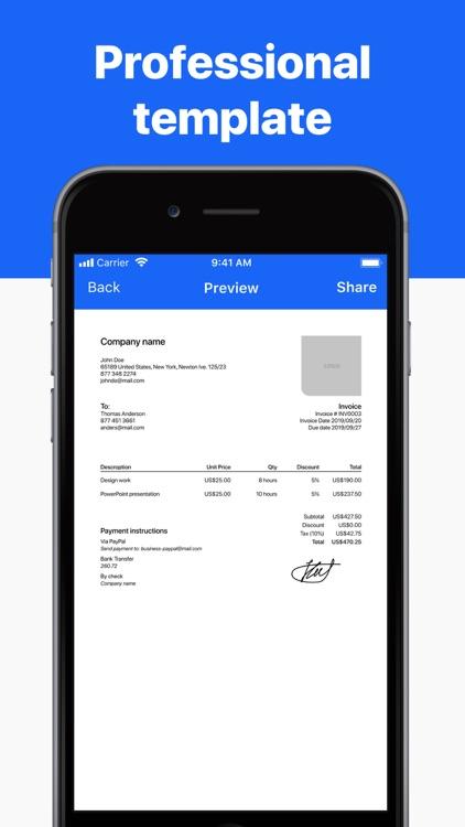 Invoice maker app – invoicing screenshot-3