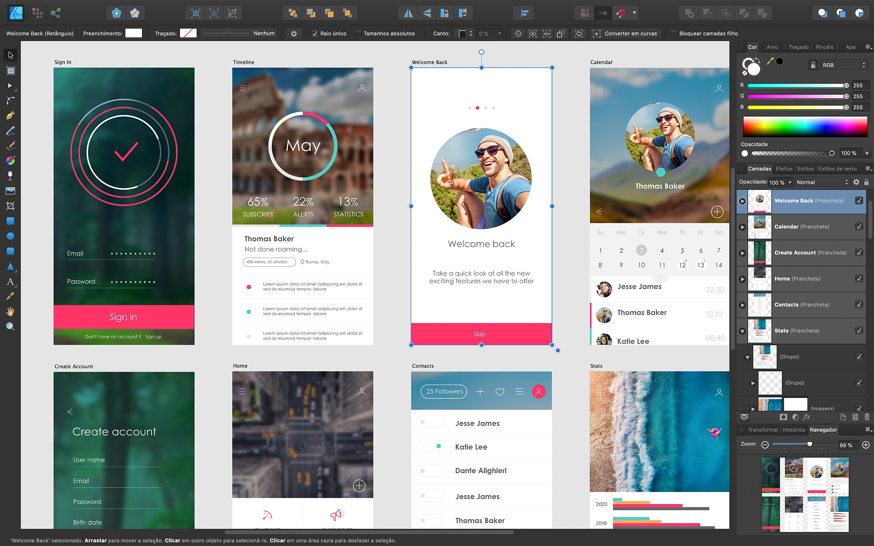 Screenshot do app Affinity Designer